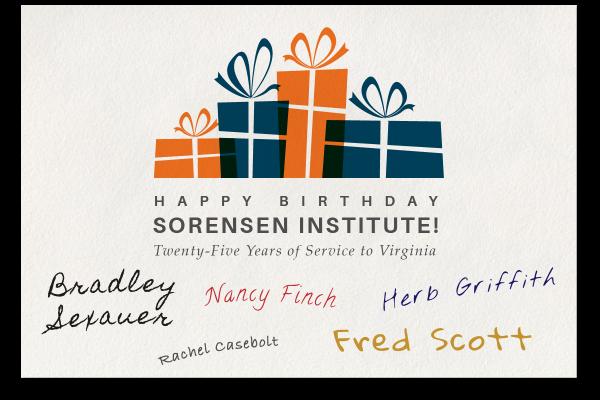 A Birthday Card For Sorensen The Sorensen Institute